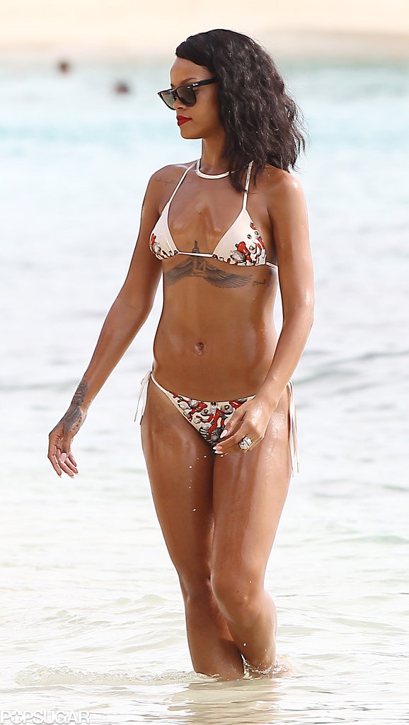 Rihanna put her bikini body on display in Barbados in November 2013.