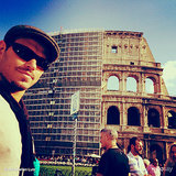 Kellan Lutz played tourist while visiting Rome. Source: Kellan Lutz on WhoSay