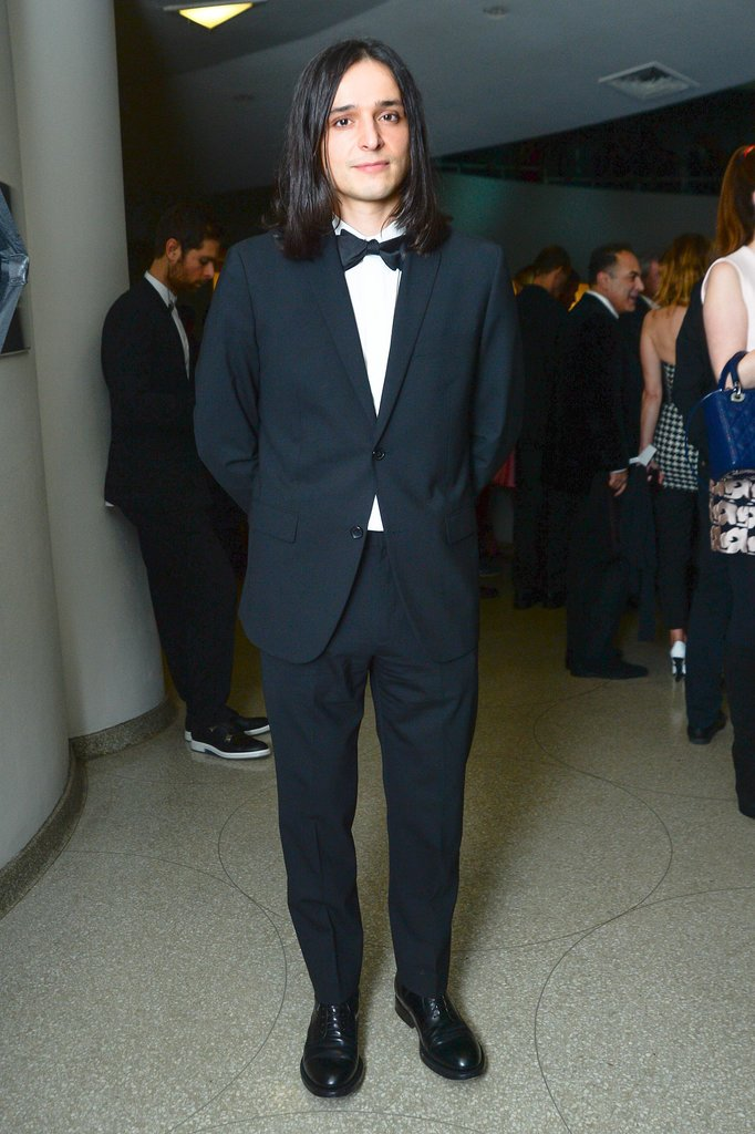 Olivier Theyskens stood out in his suit and (bow) tie at the Guggenheim Museum.