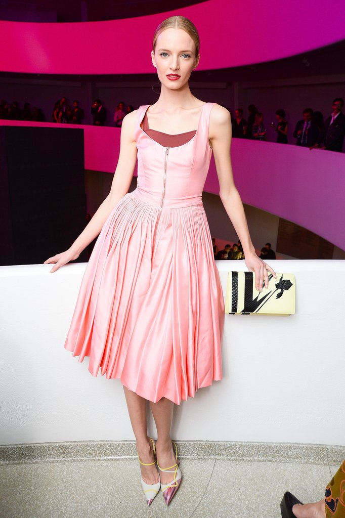Daria Strokous was a vision in Dior at the Inter