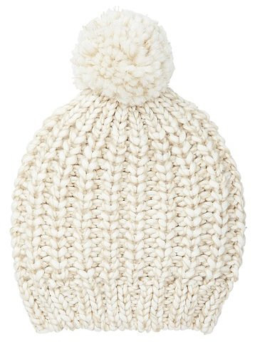 The perfect Winter hat for under $30: Loft pom-pom hat ($25).