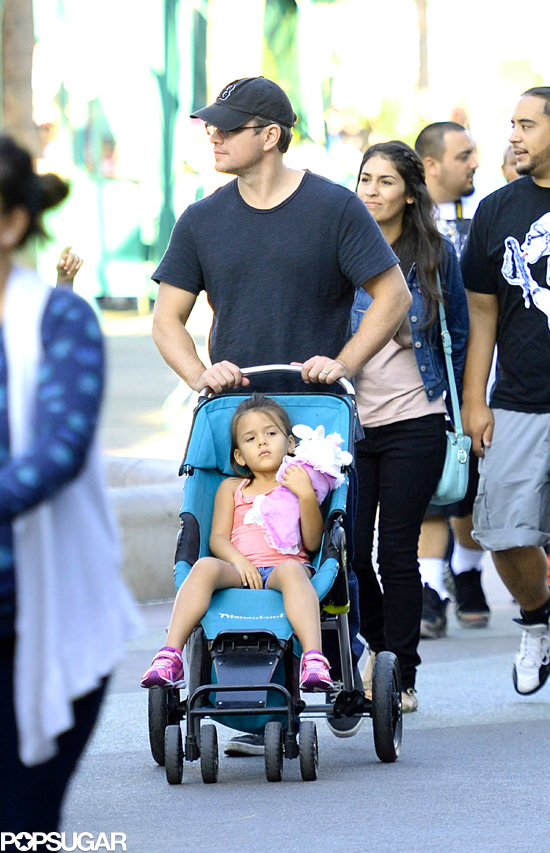 Matt Damon at Disneyland With His Family | POPSUGAR Celebrity Matt Damon Movies List