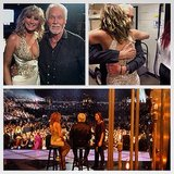Jennifer Nettles shared a collage, saying she was honored to share the stage with Kenny Rogers. Source: Twitter user JenniferNettles