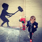 Arabella Kuschner found Banksy's latest art installation in NYC.  Source: Instagram user ivankatrump