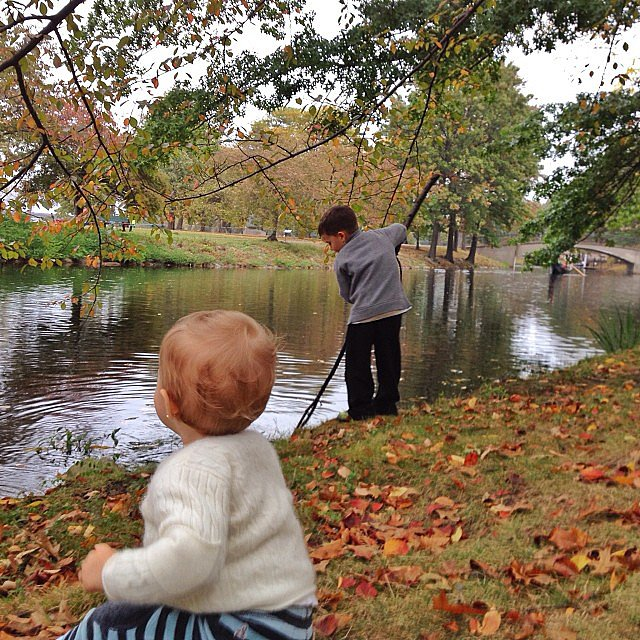 Vivian and Benjamin Brady took in a crisp Fall day. Source: Instagram user giseleofficial