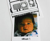 Polaroid Birth Announcement