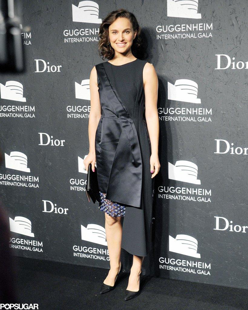 Natalie Portman walked the red carpet at the Guggenheim International Gala.