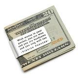 Yiddish Proverb Money Clip