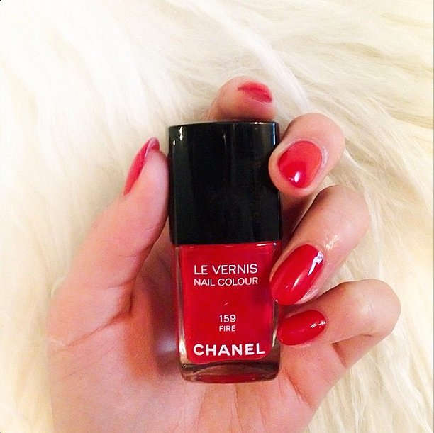 Street style star Peony Lim showed off one of her favorite polish hues. Source: Instagram user peonylim