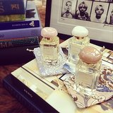 Blogger Kelly Framel of The Glamourai showed off some of her new Aerin fragrances. Source: Instagram user theglamourai