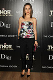 Always a standout in Dior, Natalie Portman's sleek pant design for the Cinema Society Screening of Thor: The Dark World was a departure from her more ladylike choices.