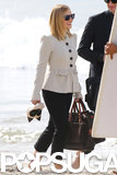 Kristen Bell continued working on House of Lies in LA on Thursday.
