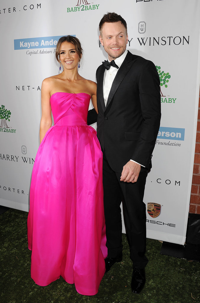 Jessica Alba and Joel McHale posed together at the Baby2Baby Gala.