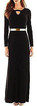 Scarlett Long-Sleeve Belted Gown