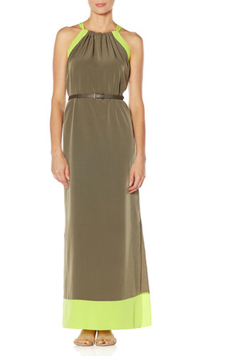 Belted Colorblock Maxi Dress