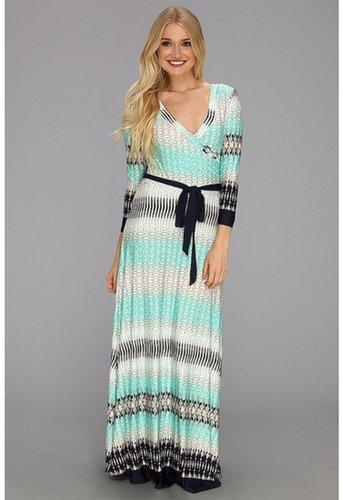rsvp - Elaine Long Sleeve Wrap Maxi Dress (Mint) - Apparel