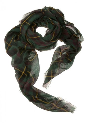 Franco Ferrari Loom Plaid Scarf