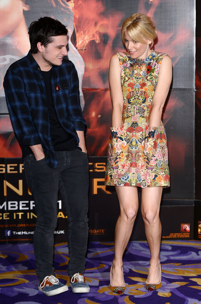 Josh Hutcherson joked around with Elizabeth Banks.