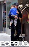 Carson Daly carried his son, Jackson, around NYC on Saturday.