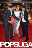 Liam Hemsworth, Jennifer Lawrence, and Josh Hutcherson got into a tickle fight on the red carpet.