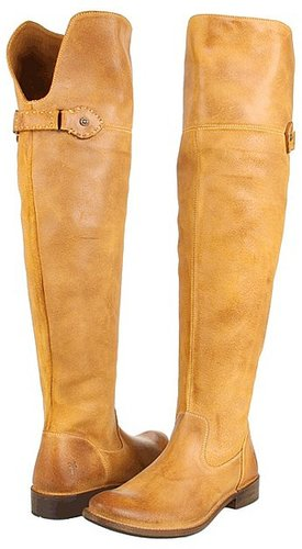 Frye - Shirley Over-The-Knee Riding (Tan Waxy Suede) - Footwear