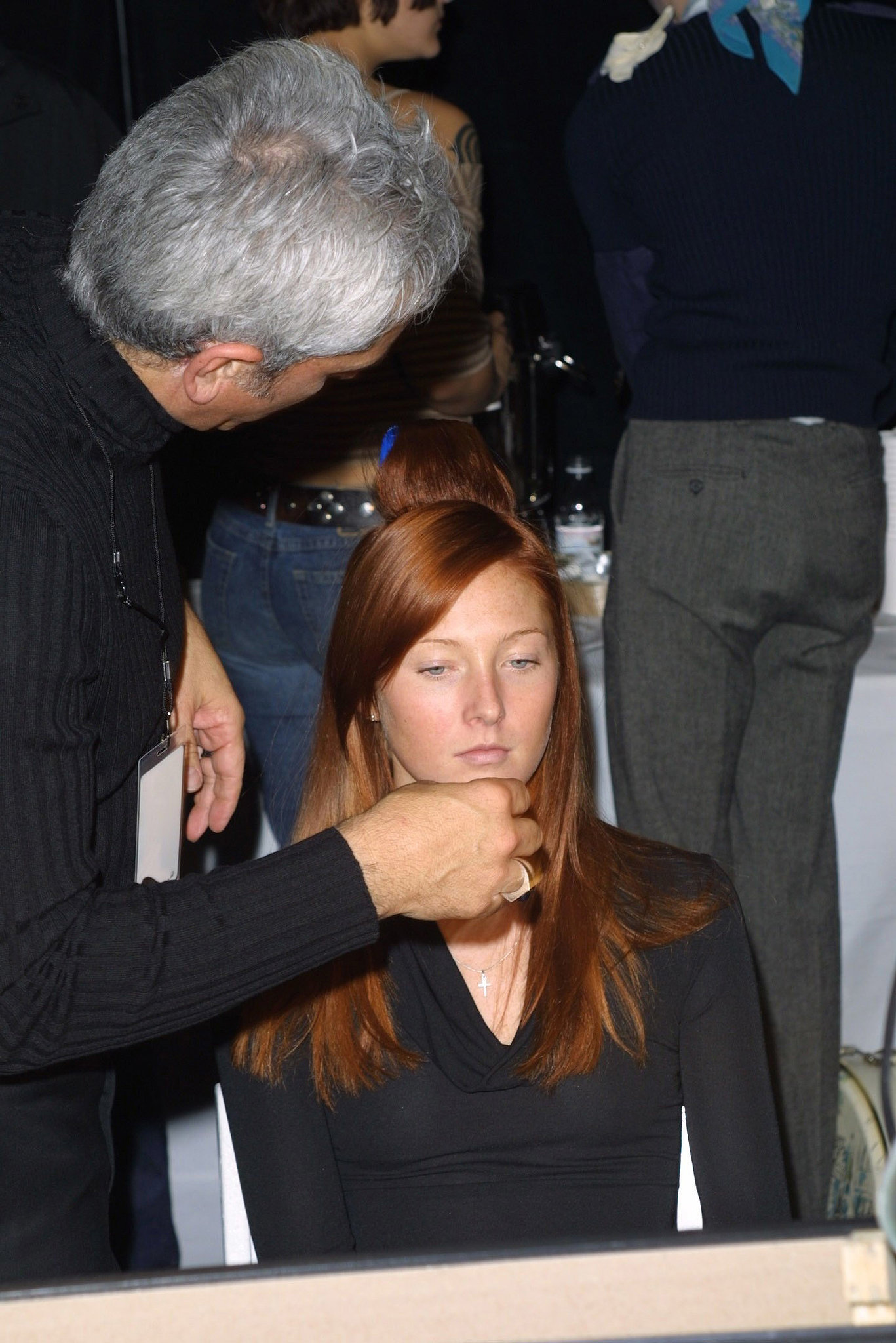 Maggie Rizer got a touch-up backstage before the 2011 show.