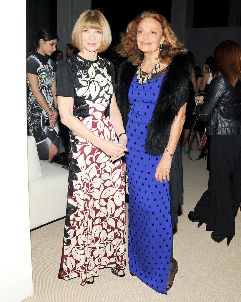 Anna Wintour and CFDA president Diane von Furstenberg at the event.