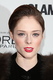 Coco Rocha was looking chic as ever with her hair slicked back, a touch of winged eyeliner, and a bright red lipstick.