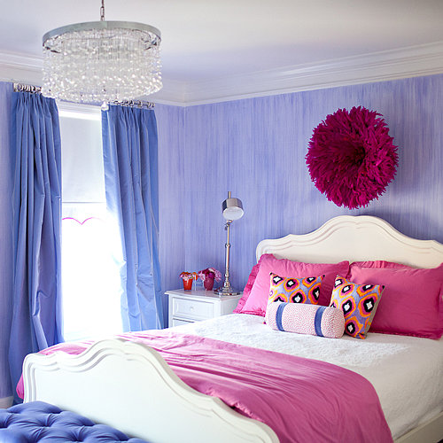 Pretty and Stylish Pink and Purple Big Girl's Room