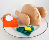 Thanksgiving Dinner Felt Toys