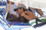 Jillian Michaels and her daughter, Lukensia, relaxed on the beach.