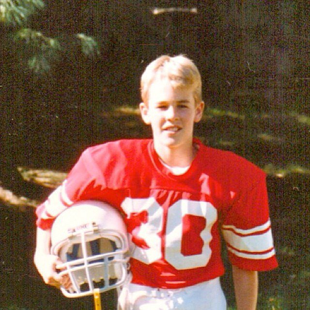 James Van Der Beek didn't look too different than he does today.  Source: Instagram user vanderjames