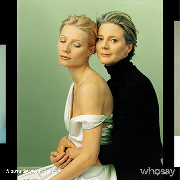 Gwyneth Paltrow shared a mother-daughter photo from an old Vanity Fair shoot. Source: Instagram user Gwyneth Paltrow