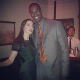 Whitney Cummings posed with NBA player Jason Collins during the GQ Men of the Year party. Source: Instagram user whitneyacummings