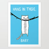 "Gemma Correll For Society6 ""Hang in There"" Art Print ($18-$35)"