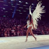 The only thing more incredible than Adriana Lima's legs are her wings. Source: Instagram user chiaraferragni