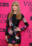 Taylor Swift's bangs were on display on the red carpet.