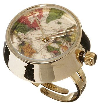 ASOS Domed Globe Ring Watch