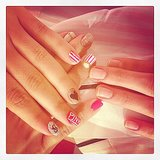 Model Barbara Fialho showed off her Victoria's Secret nail art for the show! Source: Instagram user barbarafialho1