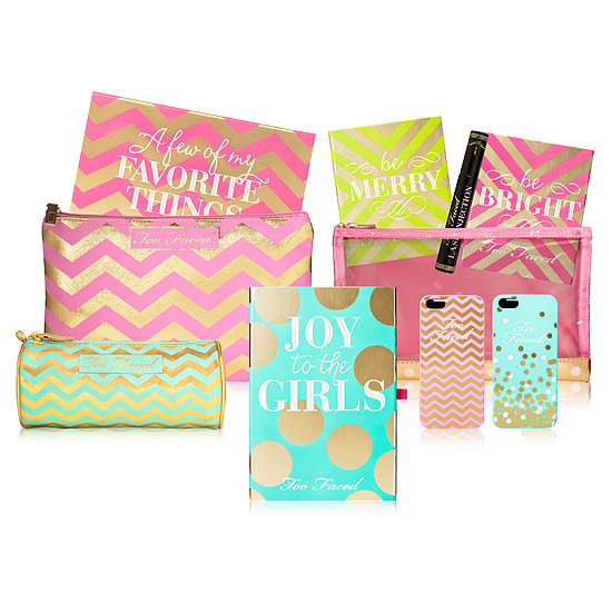 Too Faced covers all its bases in the Joy to the Girls Collection, which includes an iPhone case that actually houses shadows, a blush, and a bronzer you can use on the go!