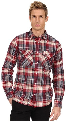 Jack Spade - Barton Flannel Plaid Work Shirt (Red) - Apparel