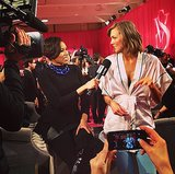 Just a little behind-the-scenes action from Karlie Kloss and E! Source: Instagram user karliekloss