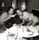 No dieting for these models — Cara Delevingne and Candice Swanepoel prepped for the runway with a late-night snack. Source: Instagram user jeromeduran