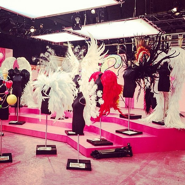 Our first shot of the iconic wings got us all the more excited for the show! Source: Instagram user victoriassecret