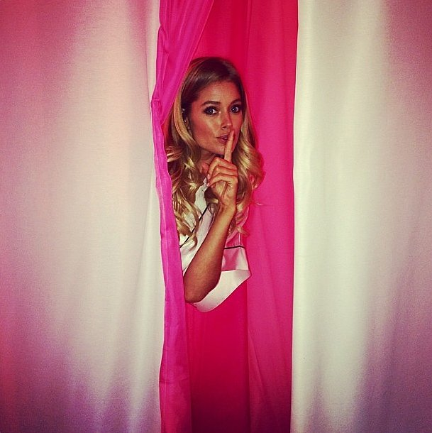 Doutzen Kroes snuck InStyle backstage before the show. Source: Instagram user instylemagazine