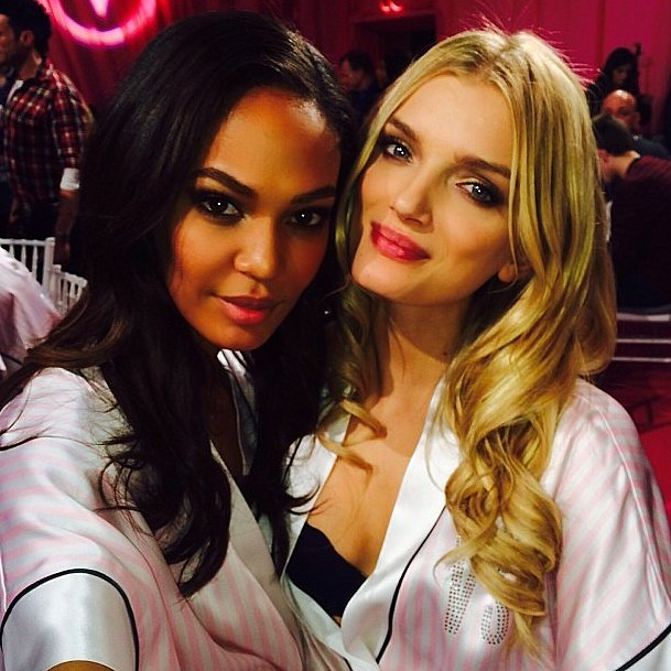 Joan Smalls and Lily Donaldson proved they're just as flawless up close! Source: Instagram user joansmalls
