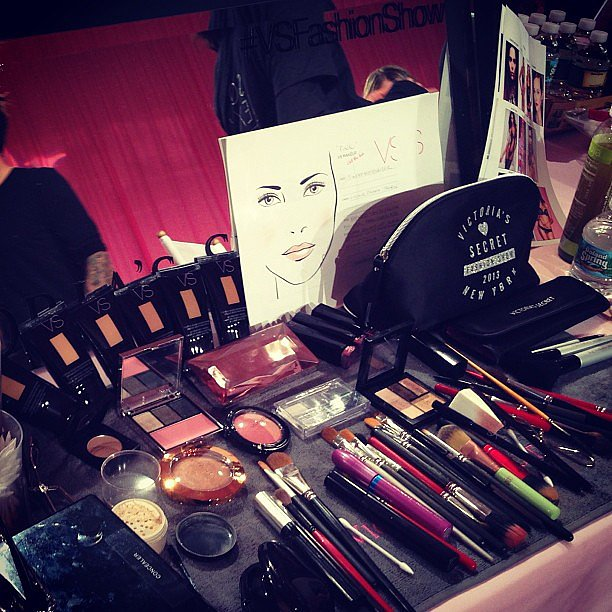 Lead makeup artist Dick Page worked with a plethora of products from Victoria's Secret Beauty, of course! Source: Instagram user nruggiero