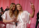 Ieva laguna and Jessica Hart captured the ultimate backstage selfie.