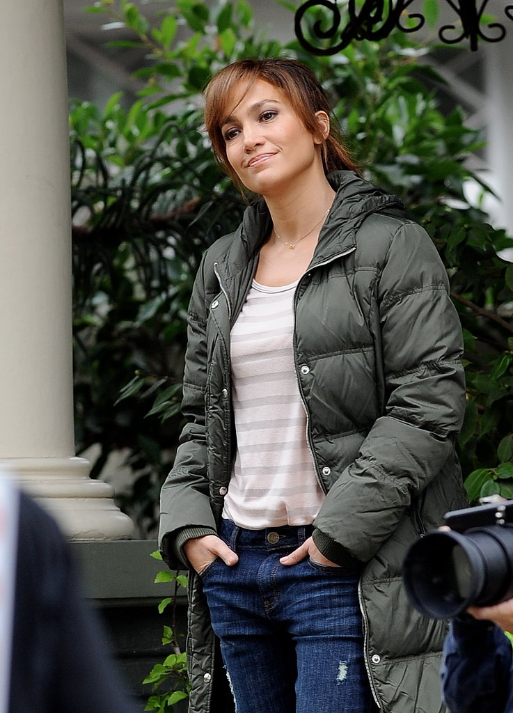 Jennifer Lopez filmed The Boy Next Door in LA on Tuesday.
