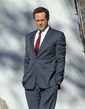 Vince Vaughn suited up to film Business Trip on Thursday in Swampscott, MA.